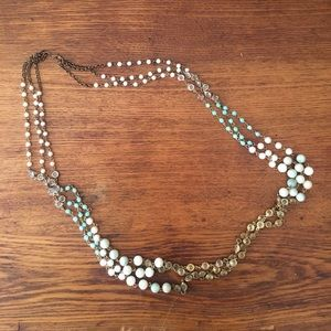 Anthropologie long beaded necklace